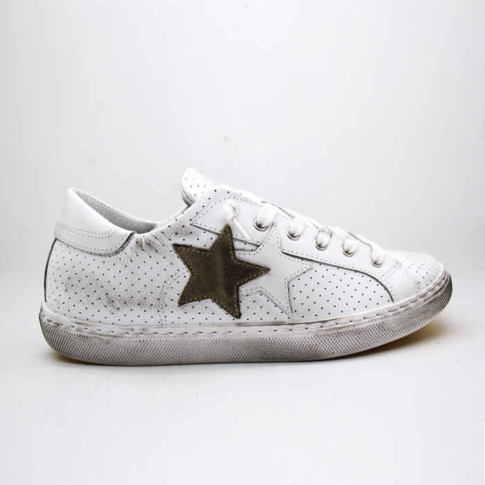2Star Sneakers BIANCO TAUPE LOW