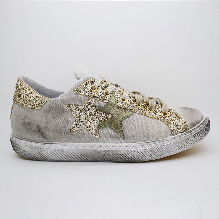 2Star Sneakers BEIGE GOLD LOW