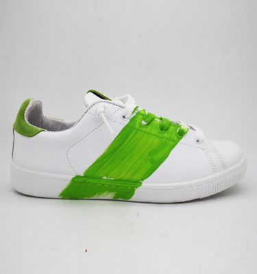 2Star Sneakers BIANCO VERDE LOW
