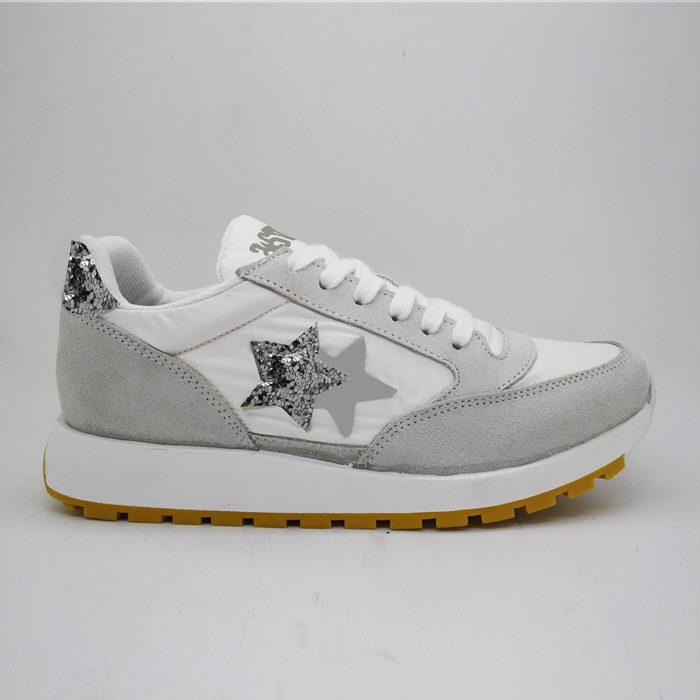 2Star Sneakers BIANCO GLIT ARG RUNNING